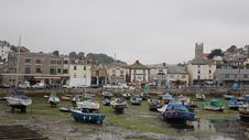 Free Low Tide Brixham Harbour Devon On Overcast Day Royalty Free Stock Photography - 36330957