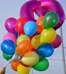 Free Brightly Coloured Balloons Stock Photography - 36333042