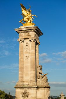 Alexander III Bridge In Paris Royalty Free Stock Photos
