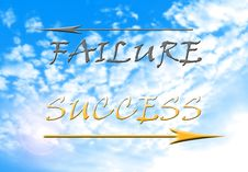 Free Success Versus Failure Stock Photography - 36338982