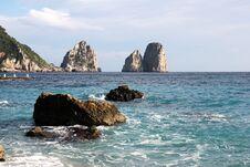 Free The Faraglioni Rocks, Capri Island Stock Image - 36339071