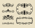 Free Curl Swirl Ornament Decorations Royalty Free Stock Images - 36340299