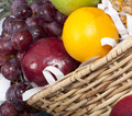 Free Close Fresh Fruit Baskets Royalty Free Stock Photos - 36343418