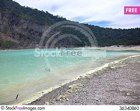 Free Scene And Vegetation In Crater Kawah Putih Stock Photo - 36340860