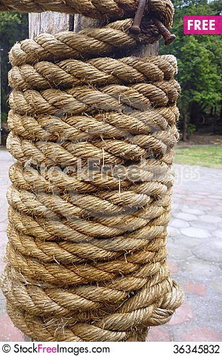 Free Rope Coiled Stock Photography - 36345832