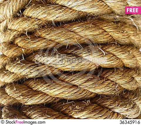 Free Rope Coiled Royalty Free Stock Image - 36345916