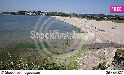 Free Par Beach Cornwall England UK Royalty Free Stock Photography - 36348027