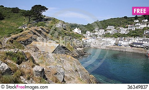 Free Summer In Polperro Cornwall England UK Royalty Free Stock Photography - 36349837