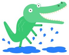 Free Alligator And Puddles Stock Photo - 36340510