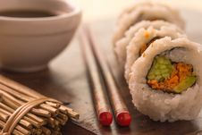 Free Sushi And Soy Sauce Royalty Free Stock Image - 36341776