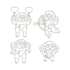 Free Cupid Set Stock Images - 36341874