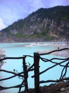 Scene Crater Kawah Putih Royalty Free Stock Photo