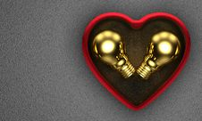 Golden Ideas For Saint Valentine S Day S Present Stock Photo