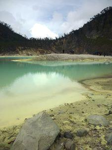 Crater Kawah Putih Royalty Free Stock Photo
