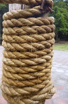 Rope Coiled Stock Photography