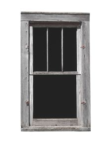 Free Old Wooden Window Isolated Stock Image - 36348431