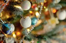 Beautiful Christmas Tree Toys Stock Photography