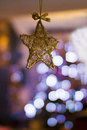 Free Christmas Decoration Star With Christmas Tree Lights Stock Images - 36353204