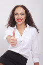 Free Woman Showing Thumb Up Stock Photography - 36354432