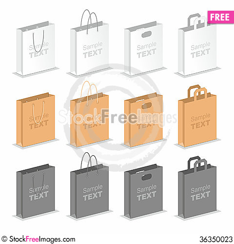 Free Shopping Bags Stock Photos - 36350023