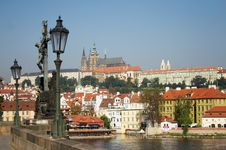 Free Prague City In The Czech Republic From The Charles Bridge Stock Photography - 36352772