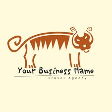 Tiger Logo For Travel Agency Royalty Free Stock Photo