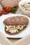 Free Sandwich Of Rye Bread With Tuna And Homemade Cheese Royalty Free Stock Photography - 36359207
