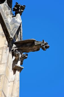 Free Gargoyle Of St. Vitus Cathedral Royalty Free Stock Image - 36361076