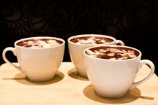 Chocolate Mousse With Almond Royalty Free Stock Photography