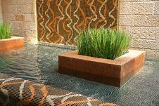Free Modern Interior Design Indoors Waterfall Royalty Free Stock Photo - 36364305