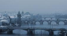Free Prague Bridges Royalty Free Stock Image - 36364356