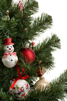 Free Fragment Dressed Up Christmas Tree Stock Photo - 36364830