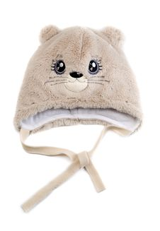 Children S Fur Cap With A Pattern Stock Images