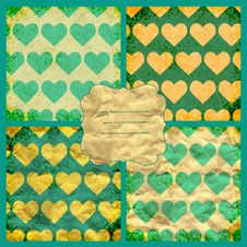 Set Of Valentine S Vector Seamless Pattern Stock Image