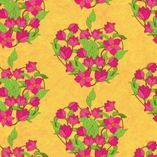 Free Vector Seamless Pattern With Magnolia Royalty Free Stock Photos - 36365738