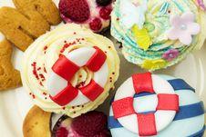 Cream Muffins Stock Images