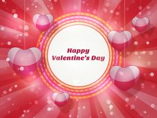 Free Greeting Card For Valentines Day Royalty Free Stock Photo - 36367205