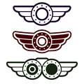 Free Steam Punk Emblem Set Stock Images - 36376574