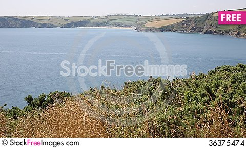 Free Mevagissey Bay Near St Austell Cornwall England Towards Pentewan Stock Images - 36375474