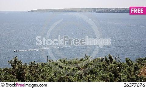 Free Mevagissey Bay Near St Austell Cornwall England Towards Pentewan Royalty Free Stock Image - 36377676