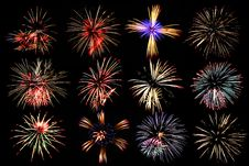 Free Colorful Firework Stock Photo - 36372440