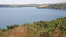 Mevagissey Bay Near St Austell Cornwall England Towards Pentewan Stock Images
