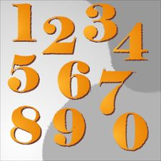 Free Designed Numbers Stock Photo - 36376370