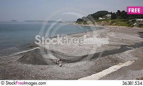 Free Seaton Beach Cornwall Near Looe England UK Stock Images - 36381534