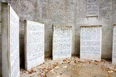 Free Jewish Memorial Stock Photo - 36380180
