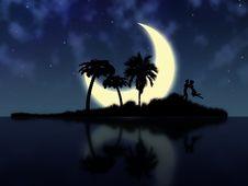 Free Night Magic Island Royalty Free Stock Photo - 36383045