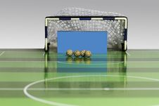Free Button Soccer Game Royalty Free Stock Images - 36387389