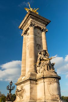 Detail Of The Alexandre III Bridge In Paris Stock Photography