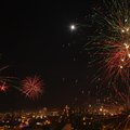 Free New Year&x27;s Eve Fireworks In The City Of Arequipa, Peru. Stock Photo - 36396880