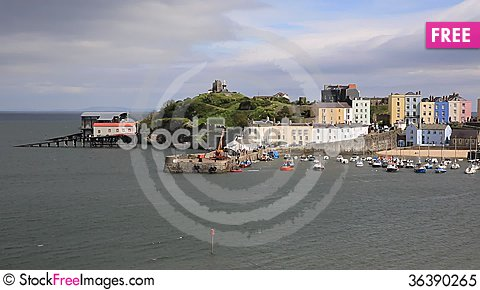 Free Tenby Pembrokeshire Wales Historic Welsh Town Royalty Free Stock Photo - 36390265